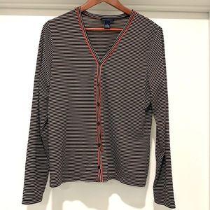 ANN TAYLOR Striped Cardigan